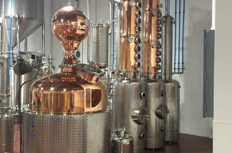 1,000-Liter Pot still distillery -at NOLA Distilling - New Orleans, LA