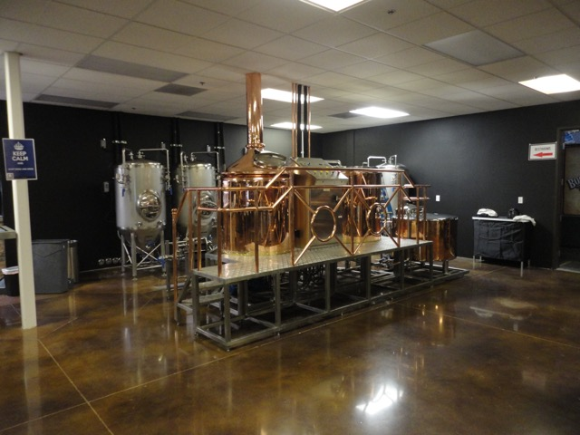 3.5-bbl/4-hl copper brewhouse system at Straub Distributing - Anaheim California